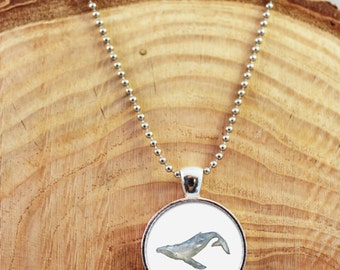 Whale Necklace, Whale Jewelry, Whale Pendant, Humpback Whale Necklace, Humpback Whale Jewelry, Whales, Ocean Necklace, Ocean Jewelry, Silver