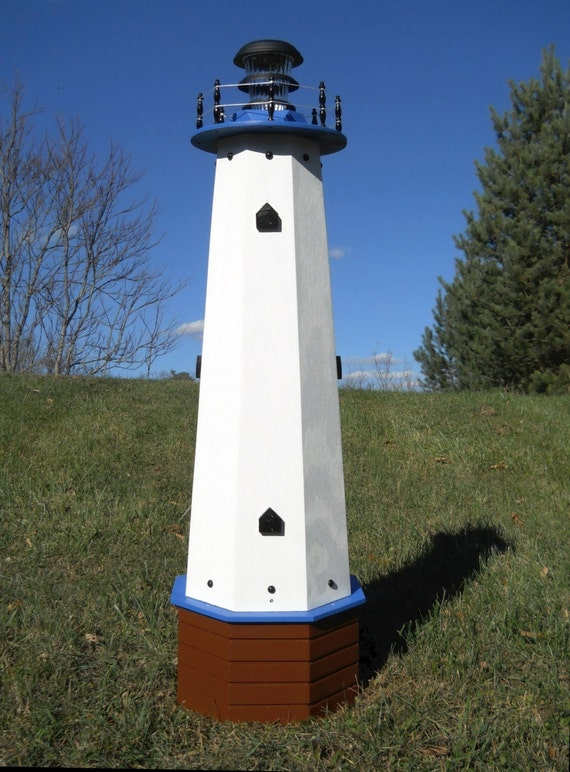 48 Solar Lighthouse Wooden Well Pump Cover Decorative
