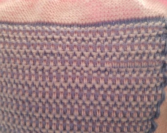 Handmade Knitted Baby Blanket/Afghan-Free Shipping