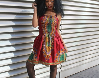 Dashiki Dress African Print Dress Ankara Dress African Clothing For Women Festival Clothing Boho Dress Ethnic Dress Ethical Clothing Kente