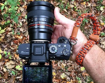 Camera Strap Fall Edition, Camera Wrist Strap, Paracord Strap, Camera Accessories,  Birthday Gift