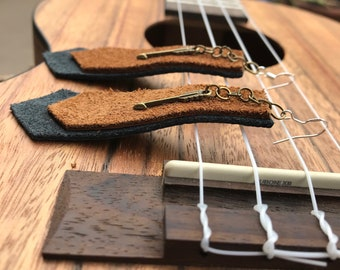 Tapered Leather Earrings