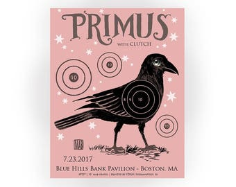 AP -Exclusive Limited Edition Primus Band Screenprinted signed 18 x 24 Poster  - by Mab Graves