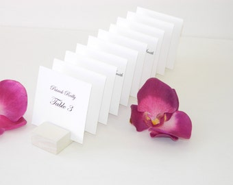Place Card Holders + Ivory Plank Place Card Holder- Set of 10 (holds 100 place cards)