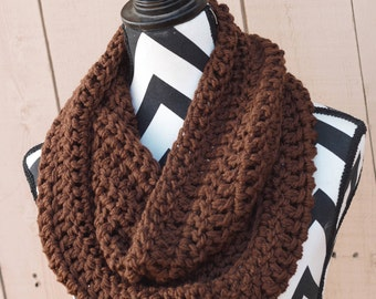 Ready to Ship Brown Infinity Scarf