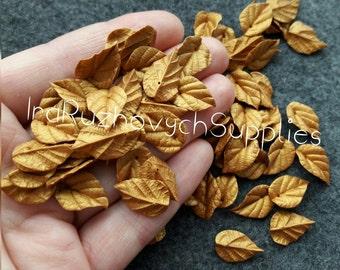 15 pcs. gold  leaf  polymer clay  bead