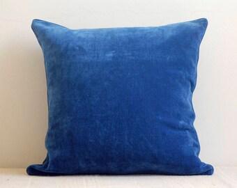 Blue cushion cover, velvet cushion cover, cotton cushion, Bohemian cushion, accent cushion,   decorative pillow, home cushion, throw pillow