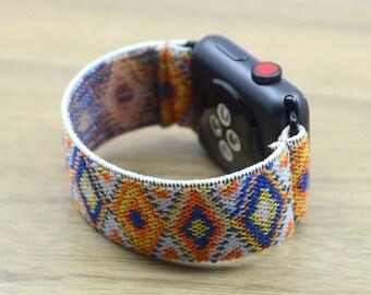 Apple Watch Aztec Pattern Elastic Band  38mm 42mm,Stretch Elastic Watch Band-EA1
