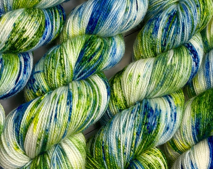 Featured listing image: Mother Earth - Hand dyed on Balanced Sock