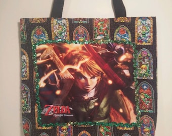 The Legend of Zelda: Twilight Princess tote bag (black)