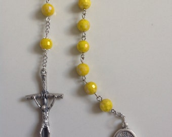 Caridad Del Cobre - Lady of Charity Rosary (Decade) John Paul II Crucifix