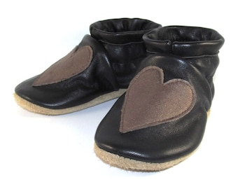 Soft Sole Leather Hearts Baby Shoes 12 to 18 Month Eco Friendly