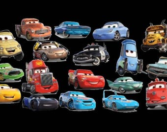 12-Cars 3 Cupcake Toppers/Food Picks