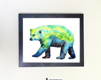 Polar Bear Spirit Animal Art Print Watercolor Totem Guide