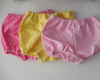 Gingham diaper covers for babies and toddlers in your choice of colors