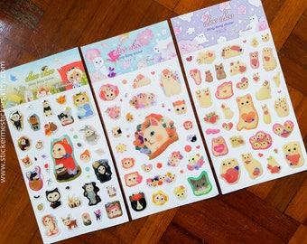 CAT sticker, Die-Cut Epoxy sticker, Kitten stickers, Cat Lover, Cat Lady, Choo Choo Cat stickers, Epoxy Cat sticker, Epoxy sticker