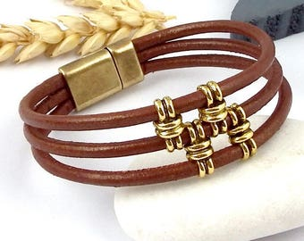 Kit tutorial bracelet leather Bohemian ethnic man or woman