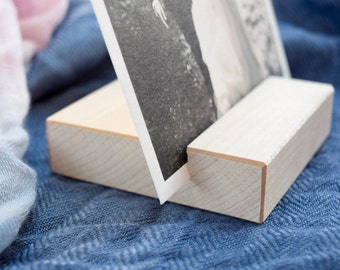 Maple Photo Stand | Wood Picture Holder | Photo Print Stand | Light Wood Photo Display Stand | Photo Block | Photo Gift | Minimalism gift