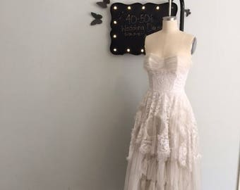 Antique Wedding or Formal Lace Dress