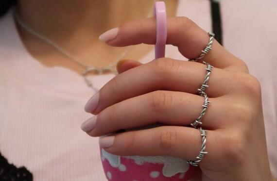 Stacheldraht-Ring Silber-Stacheldraht gold-Stacheldraht