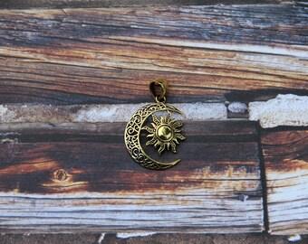 Boho Sun/Moon pendant
