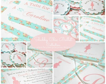 Shabby Chic Ballet Party Package