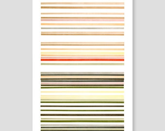 Letterpress Stripes Print (Natural)