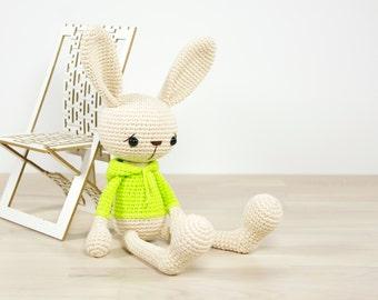 Amigurumi Rabbit Tutorial : Pattern bunny long legged toy rabbit amigurumi tutorial