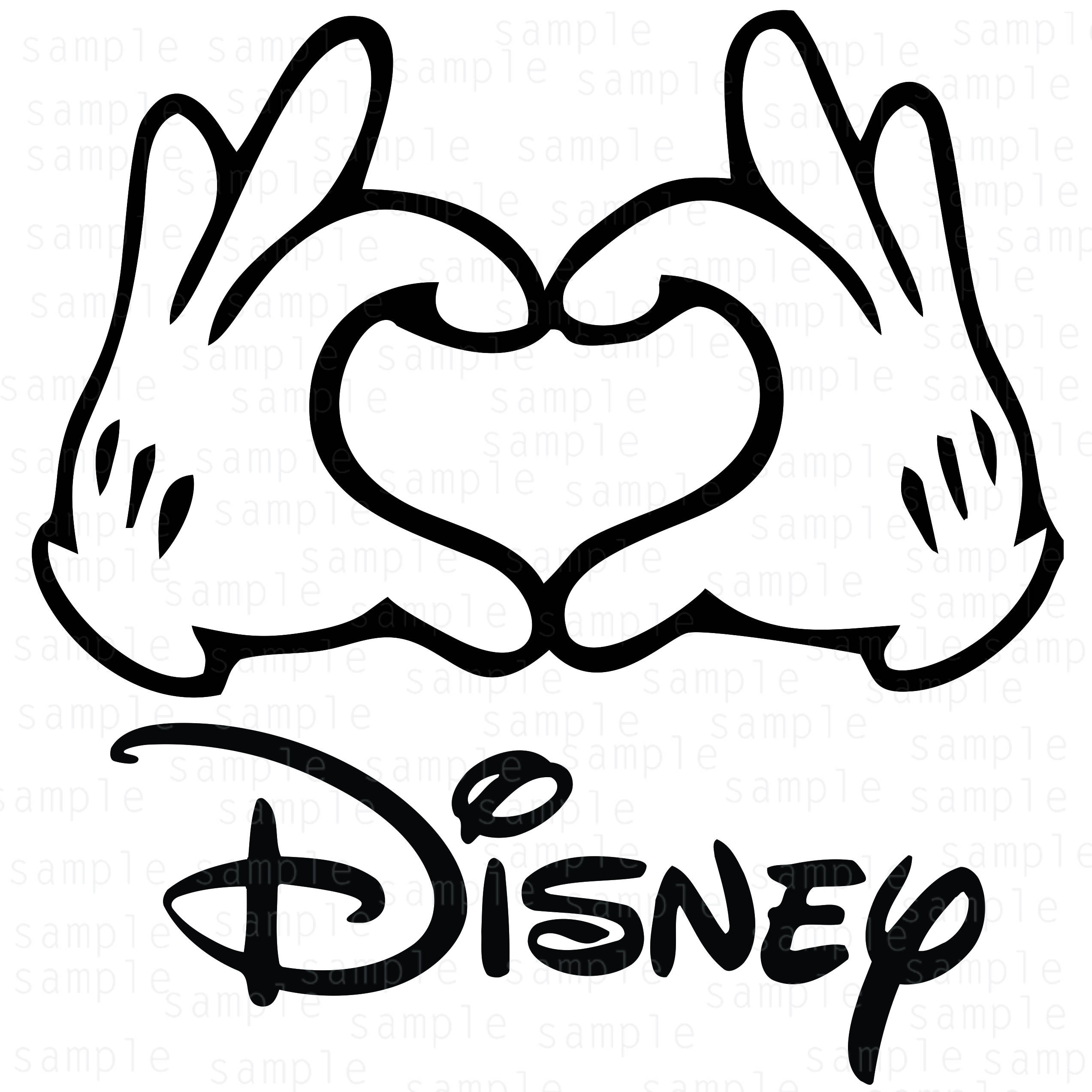 Disney Pin Heart Hands: Hands Mickey Disney Hearts SVG Mickey Svg Download Files