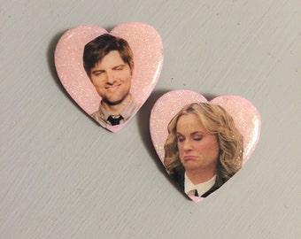 BEN & LESLIE PINS