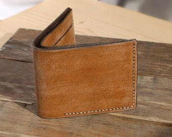 Antique leather wallet. Free shipping.