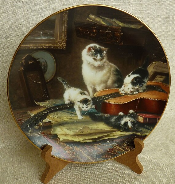 "Henriette Ronner ""STRING QUARTET"" 1991 Second Issue W. L. George Fine China The Victorian Cat,"