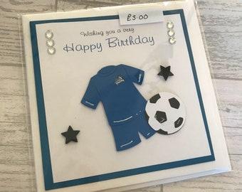 Boys football birthday card