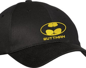 BUTTMAN Funny Spoof Parody Batman Cap Hat Halloween Party