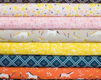 SALE!! Half Yard Bundle Stay Gold by Aneela Hoey for Cloud 9 Fabrics- 8 Fabrics