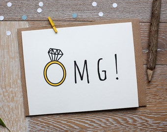 OMG! Funny Congratulations on Your Engagement Card!