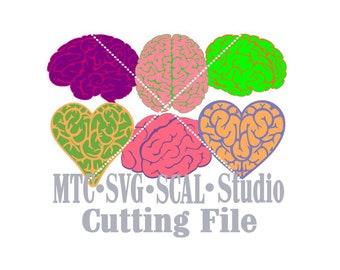 SVG Cut File Halloween Brains Embellishment Cutting File Bundle of 8 MTC SCAL Cricut Silhouette Cutting File