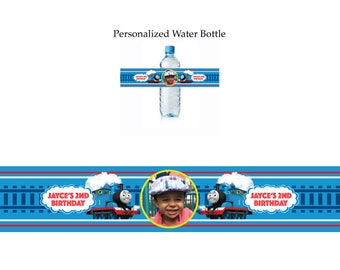 Thomas The Train water bottle label
