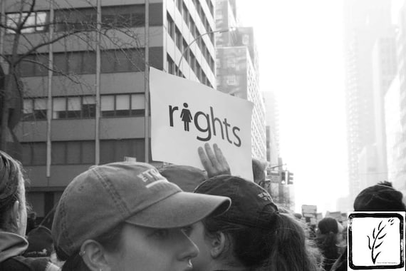 """Rights,"" New York City Women's March, 2017."