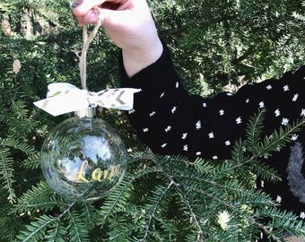 Customizable holiday ornaments!