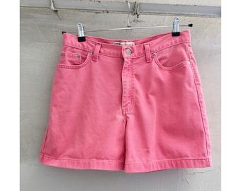 Vintage 90's PINK Denim Shorts . Faded Glory . US Size 10 . Vintage Summer
