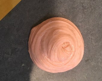 Glossy Pink Fluffy Bubble Gum Slime (scented)