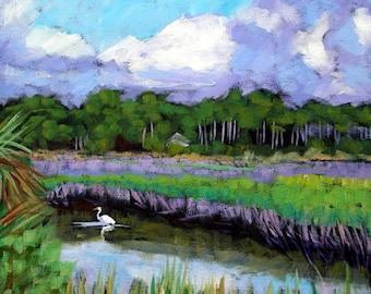 Marsh Egret- Archival Print