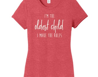 Sibling Birth Order Shirt Set, Women's Fitted T-Shirt | Funny Sibling Shirts | Youngest Child | Middle Child | Oldest Child shirt