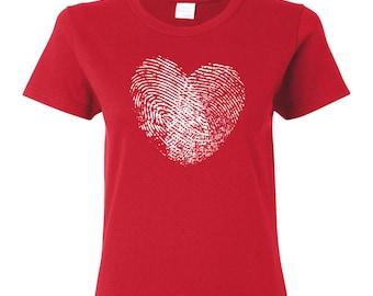 Fingerprint Heart T-SHIRT. Get this unique t-shirt today!