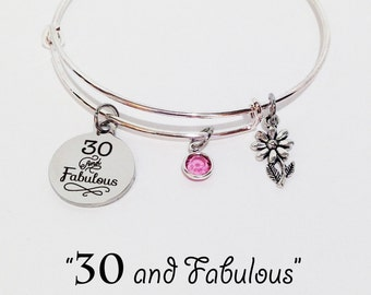 30th Birthday Gift, 30th Birthday for Her, 30th Birthday, 30th Birthday Gift for Her, 30 and Fabulous, 30 Birthday for her, 30 Birthday
