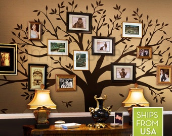 Tree Wall Decal, family Tree Wall Decal Sticker - Living Room Wall Decals - wall graphic