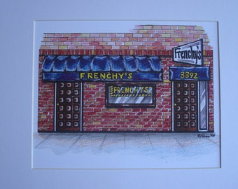 Frenchy's, by Karen Paciullo, 2014, Throggs Neck, Bronx, NY,  ready to frame art print