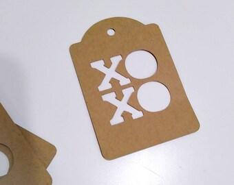 XOXO Valentine's day kraft paper tag