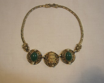 Vintage Selro-Selini Asian Princess Necklace/ 50's Necklace